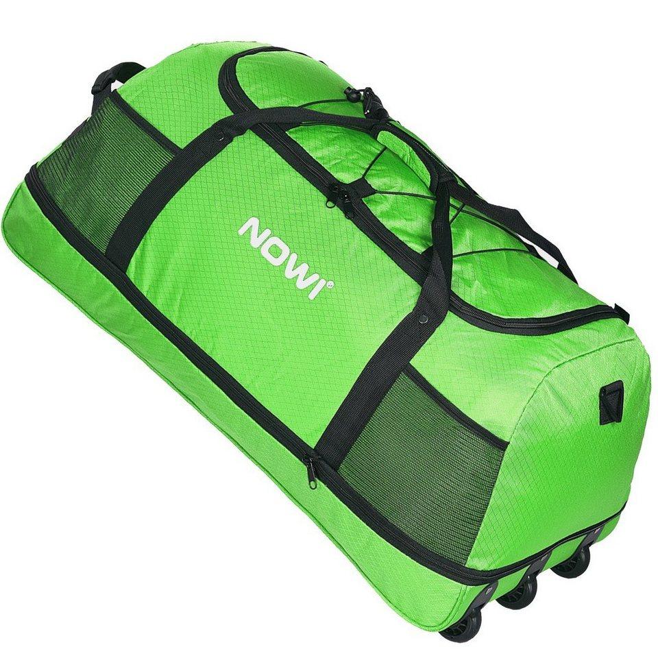 NOWI XXL 3-Rollen Reisetasche 100-135 Liter Volumen Rollenreisetasche in apfelgrün