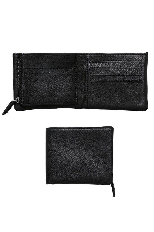 Next Brieftasche aus Leder mit Reißverschluss in Black