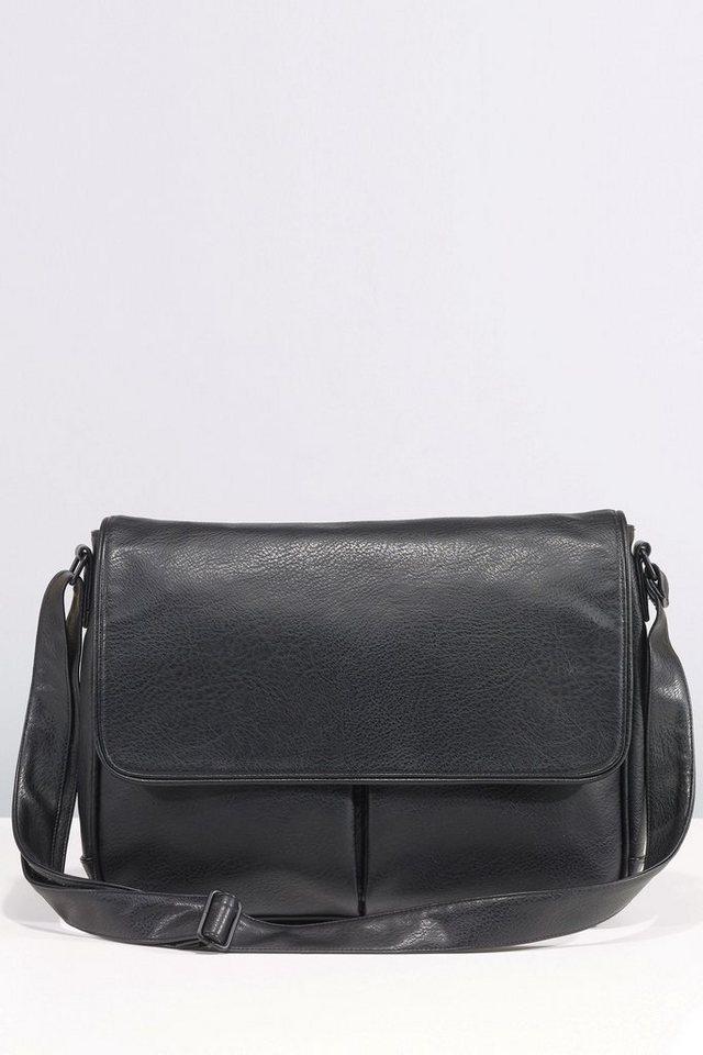 Next Tasche mit zwei Fächern in Schwarz