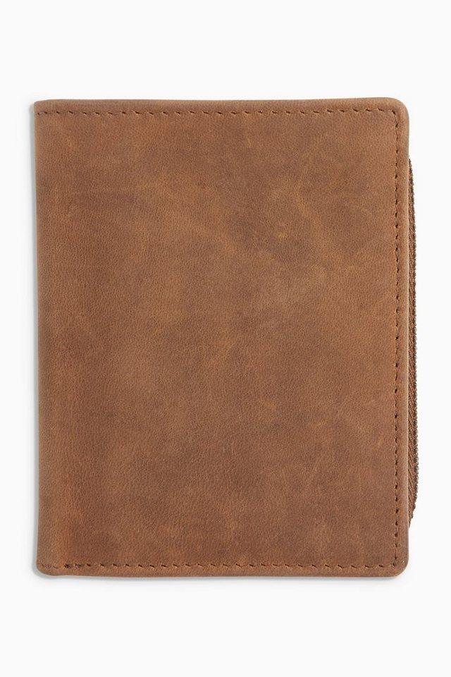 Next Brieftasche aus Leder in Braun