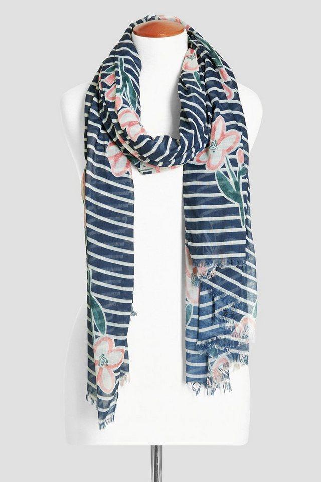 Next Schal mit floralem Streifenmuster in Blau