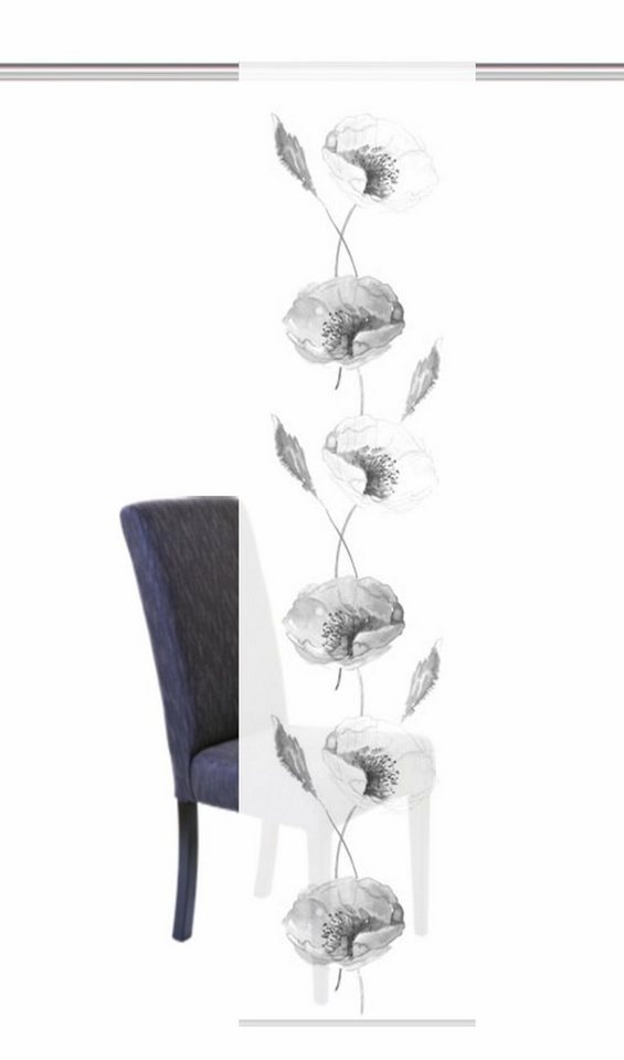 Schiebegardine, Home Wohnideen, »NARBONNE«, mit Klettband (1 Stück mit Zubehör) in schwarz-weiß