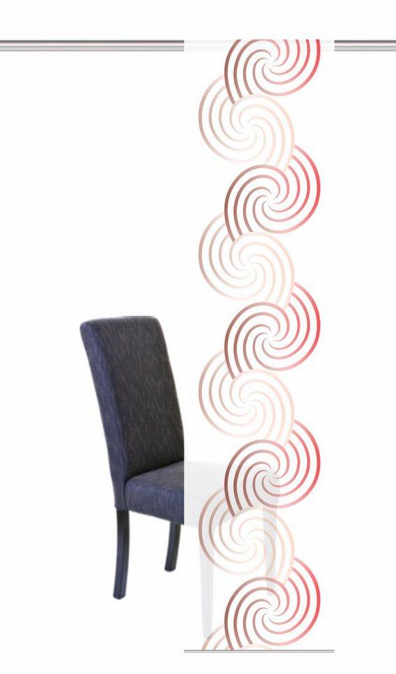 Schiebegardine, Home Wohnideen, »LATINA«, mit Klettband (1 Stück mit Zubehör) in rot