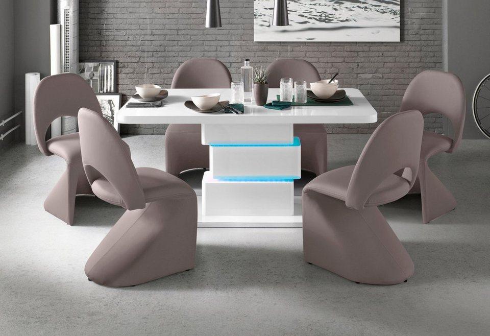 beleuchtung für esszimmertisch esstischleuchte säulenesstisch mit ledbeleuchtung breite 140 oder 160 cm online