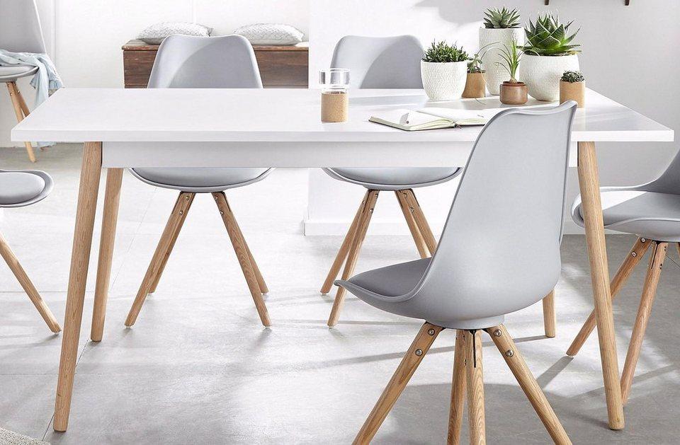Esstisch breite 160 cm online kaufen otto for Designer esstisch 160