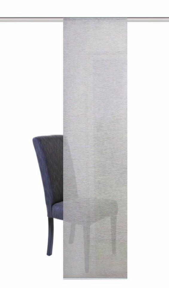 Schiebevorhang, Home Wohnideen, »SIEGLINDE«, mit Klettband (1 Stück mit Zubehör) in grau