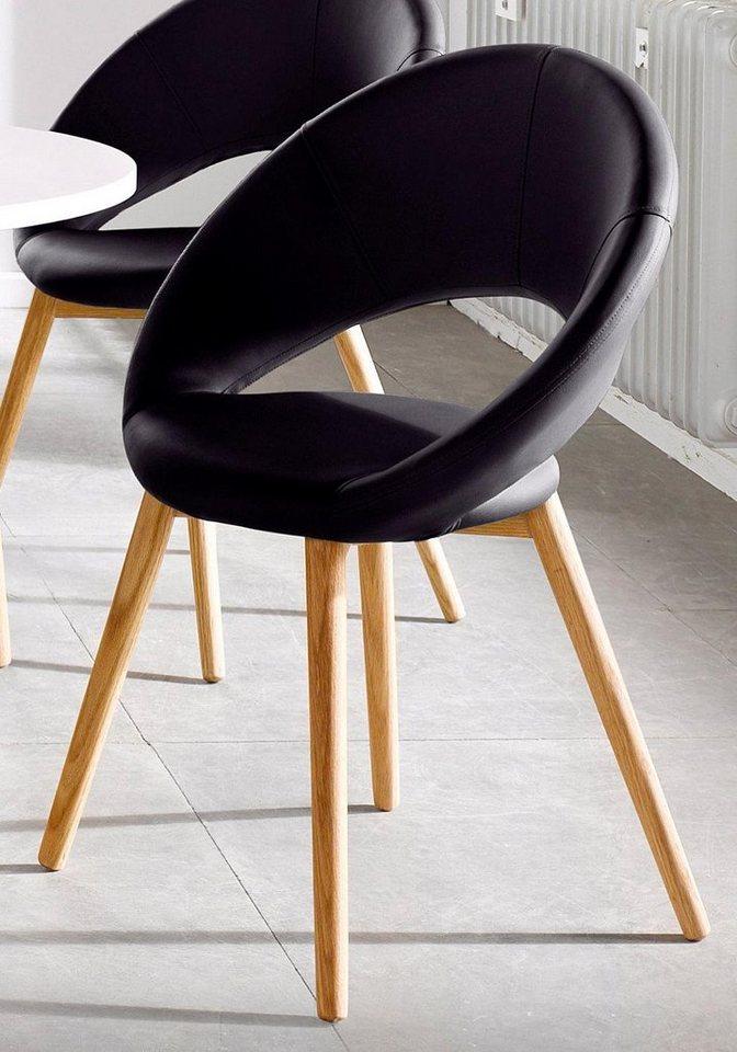 andas Stühle (2 oder 6 Stück) in schwarz