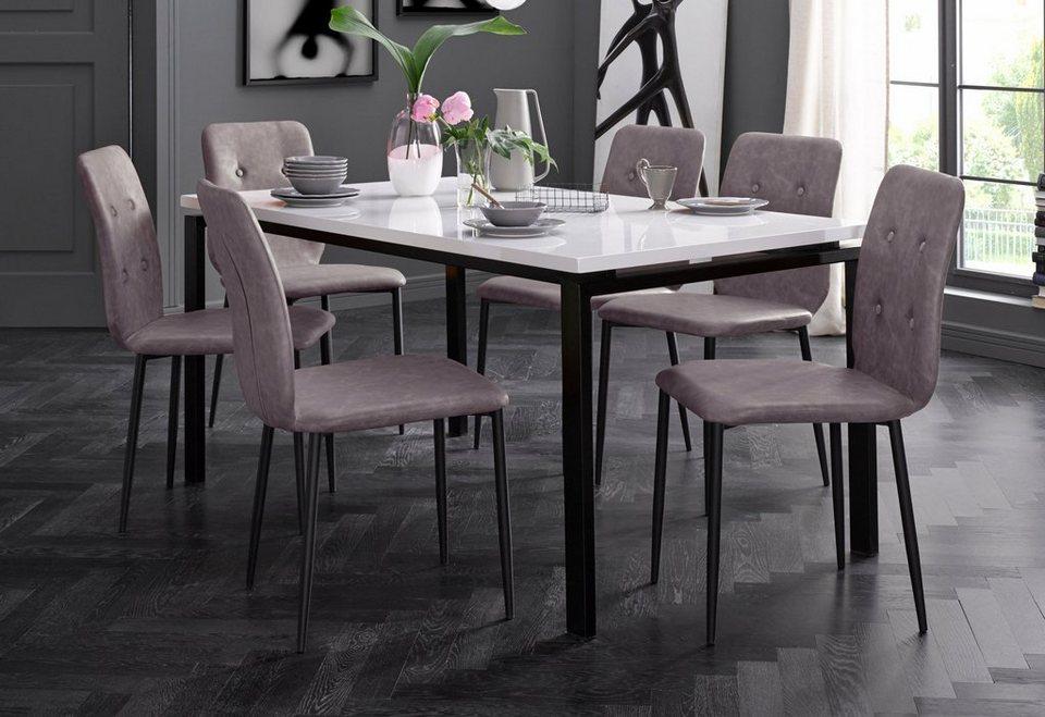 Stühle (2 Stück) in cappuccino