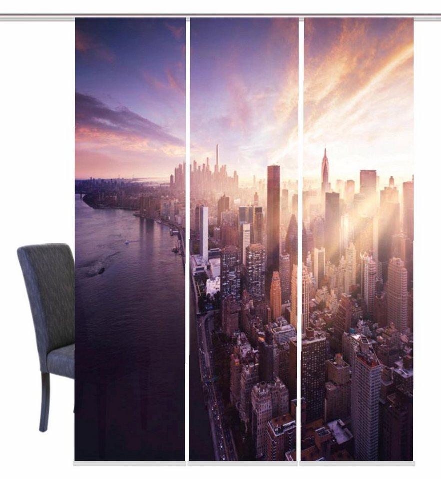 schiebegardine home wohnideen skyline mit klettband 3 st ck mit zubeh r online kaufen otto. Black Bedroom Furniture Sets. Home Design Ideas