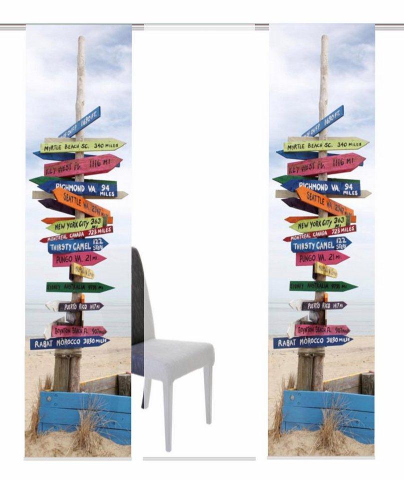Schiebevorhang, Home Wohnideen, »STICKER«, Mehrfachsets (mit Zubehör) in multicolor