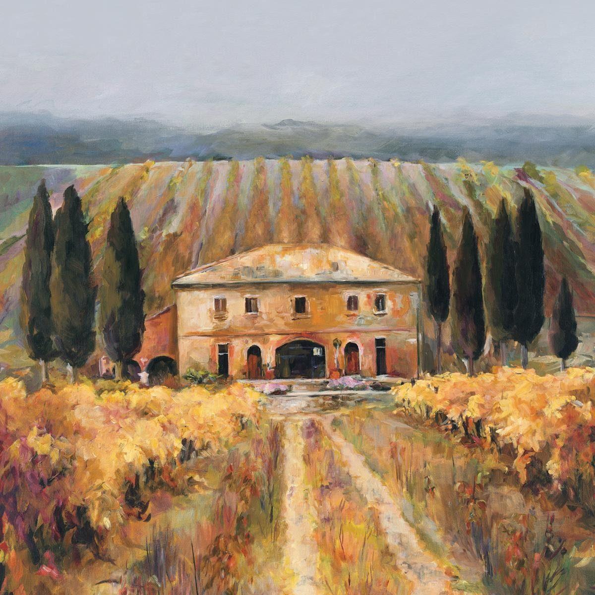 Eurographics Leinwandbild »Toscana Vigna«, 80/80cm