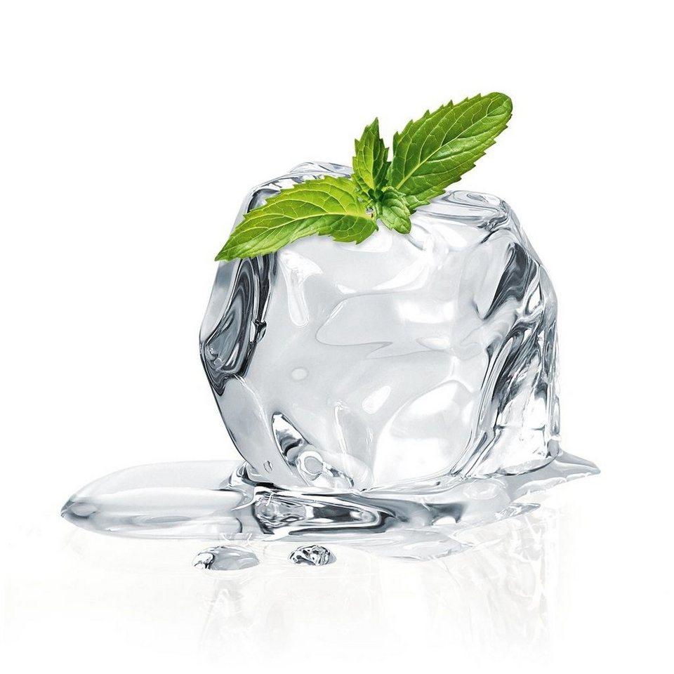 Eurographics Glasbild »Mint Ice Cube«, 20/20cm in weiß/grün