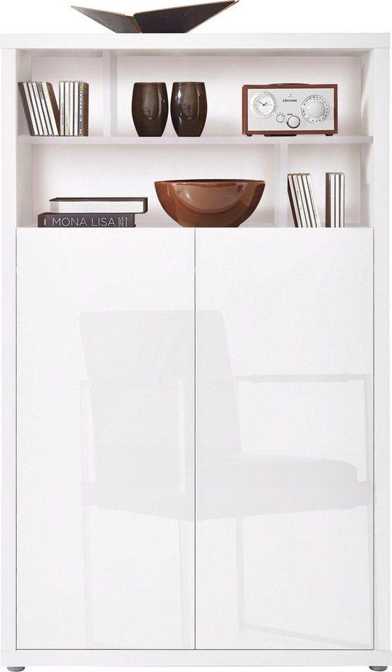 roomed Highboard »Moro«, Breite 86 cm in weiß Lack