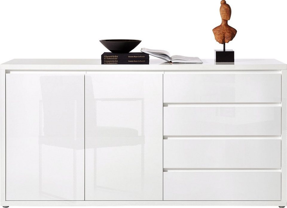 roomed Sideboard »Moro«, Breite 188 cm in weiß Lack