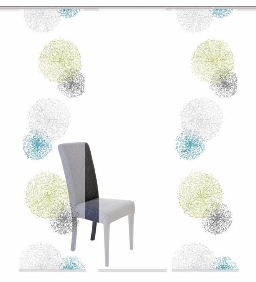 Schiebevorhang, Home Wohnideen, »SCOPPIO«, Mehrfachsets (mit Zubehör) in grün