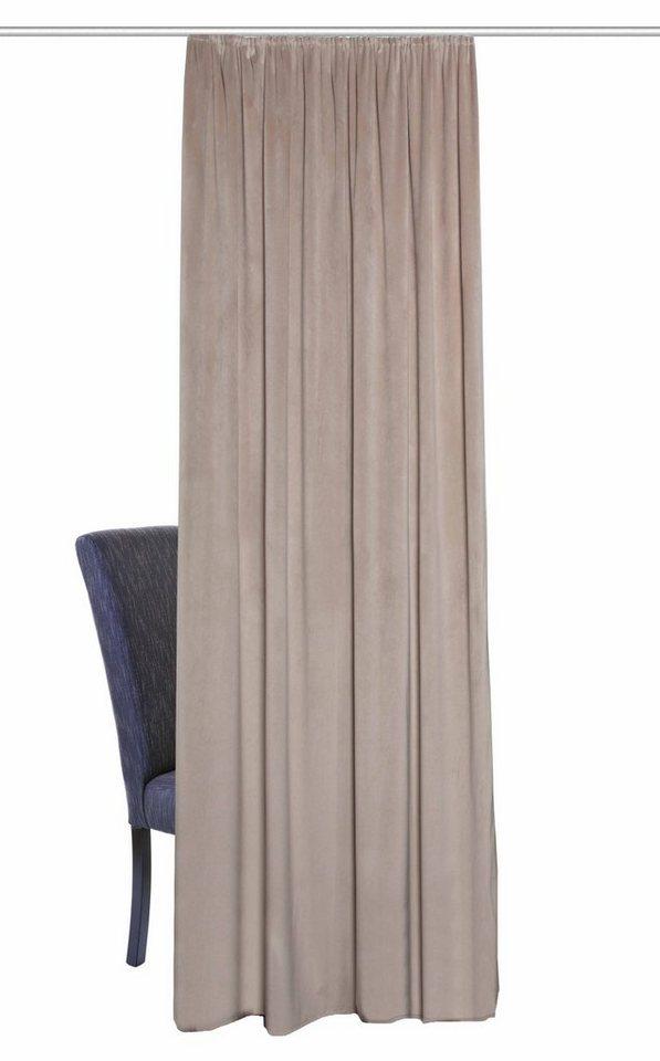 Vorhang, Home Wohnideen, »SAMT« (1 Stück) in beige