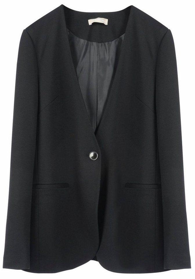 STEFANEL Jackenblazer in edler Optik in schwarz