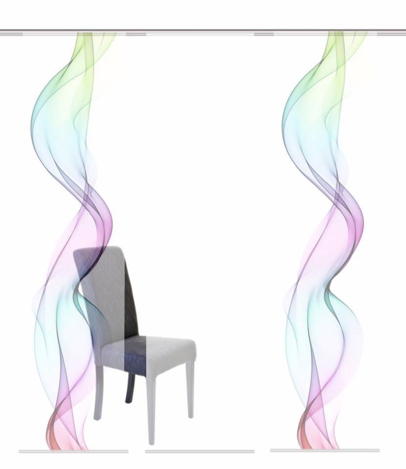 Schiebevorhang, Home Wohnideen, »ALBERTA«, Mehrfachsets (mit Zubehör) in multicolor