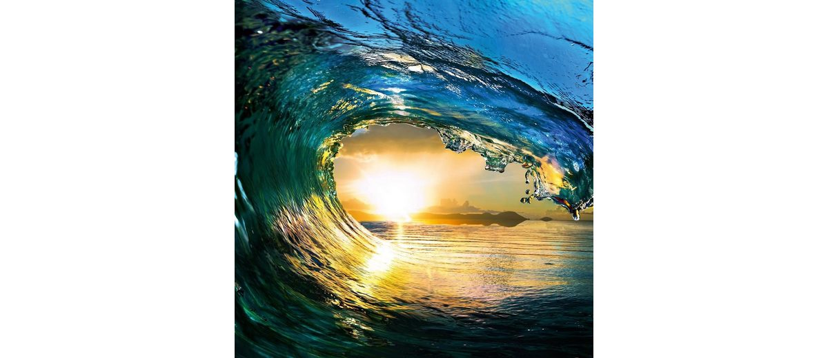 Eurographics Glasbild »First Summer Wave«, 50/50cm