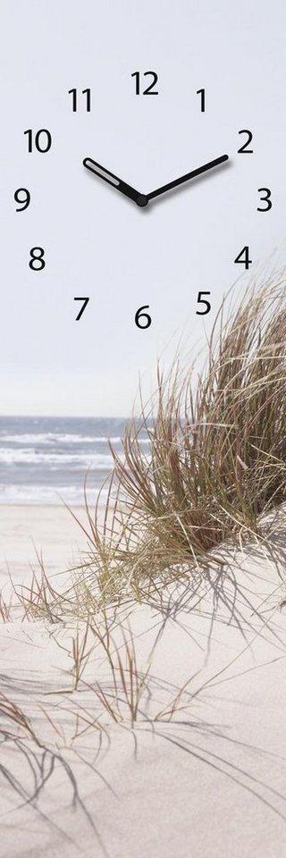 Eurographics Glasuhr »Sea Of Dunes«, 20/60cm in beige/hellblau