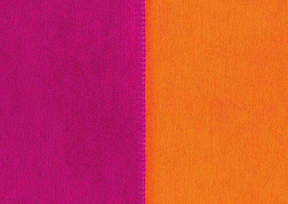 Wohndecke, Ibena, »Sorrento Doubleface«, mit Wendemöglichkeit in pink-orange