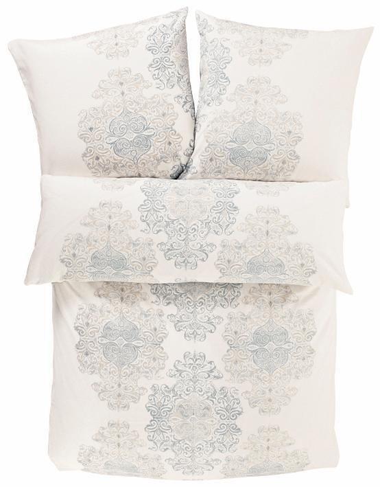 Bettwäsche, Zeitgeist, »Orient«, mit Ornamenten in weiß-blau