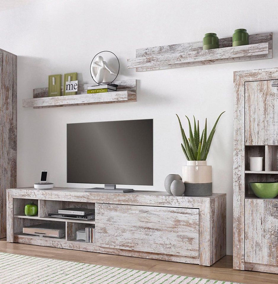 lowboard mit 1 wandregal online kaufen otto. Black Bedroom Furniture Sets. Home Design Ideas