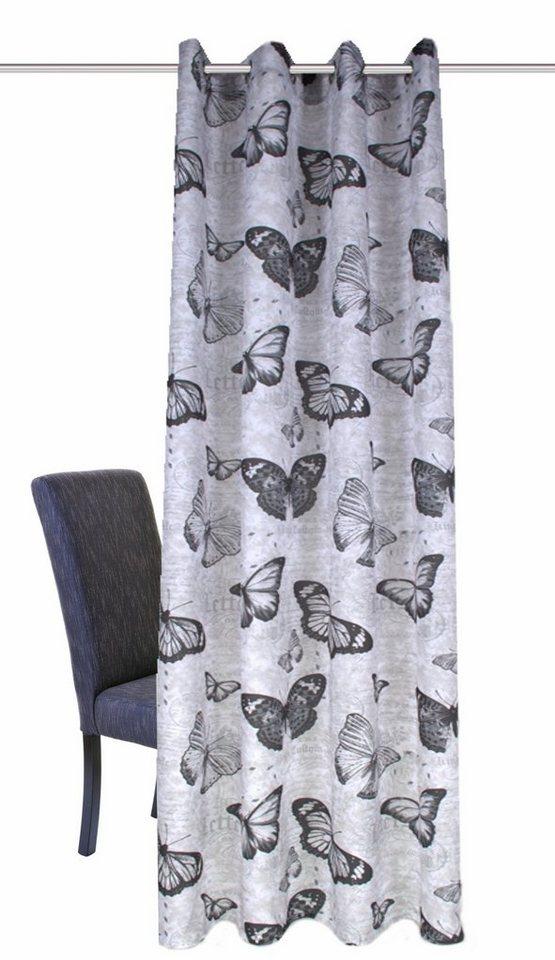 Vorhang, Home Wohnideen, »MESSAGE« (1 Stück) in grau