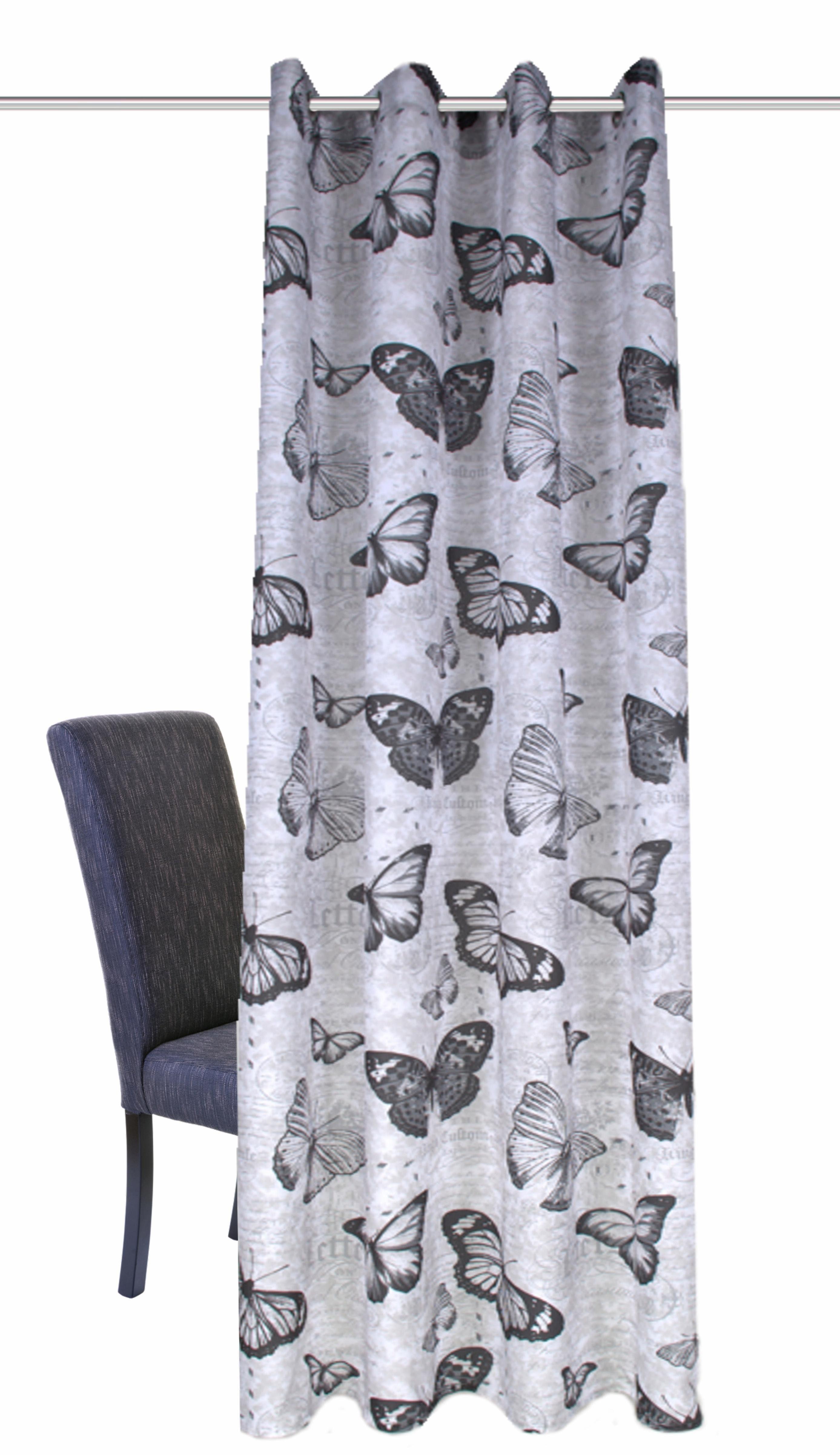 Vorhang, Home Wohnideen, »MESSAGE«, mit Ösen (1 Stück)