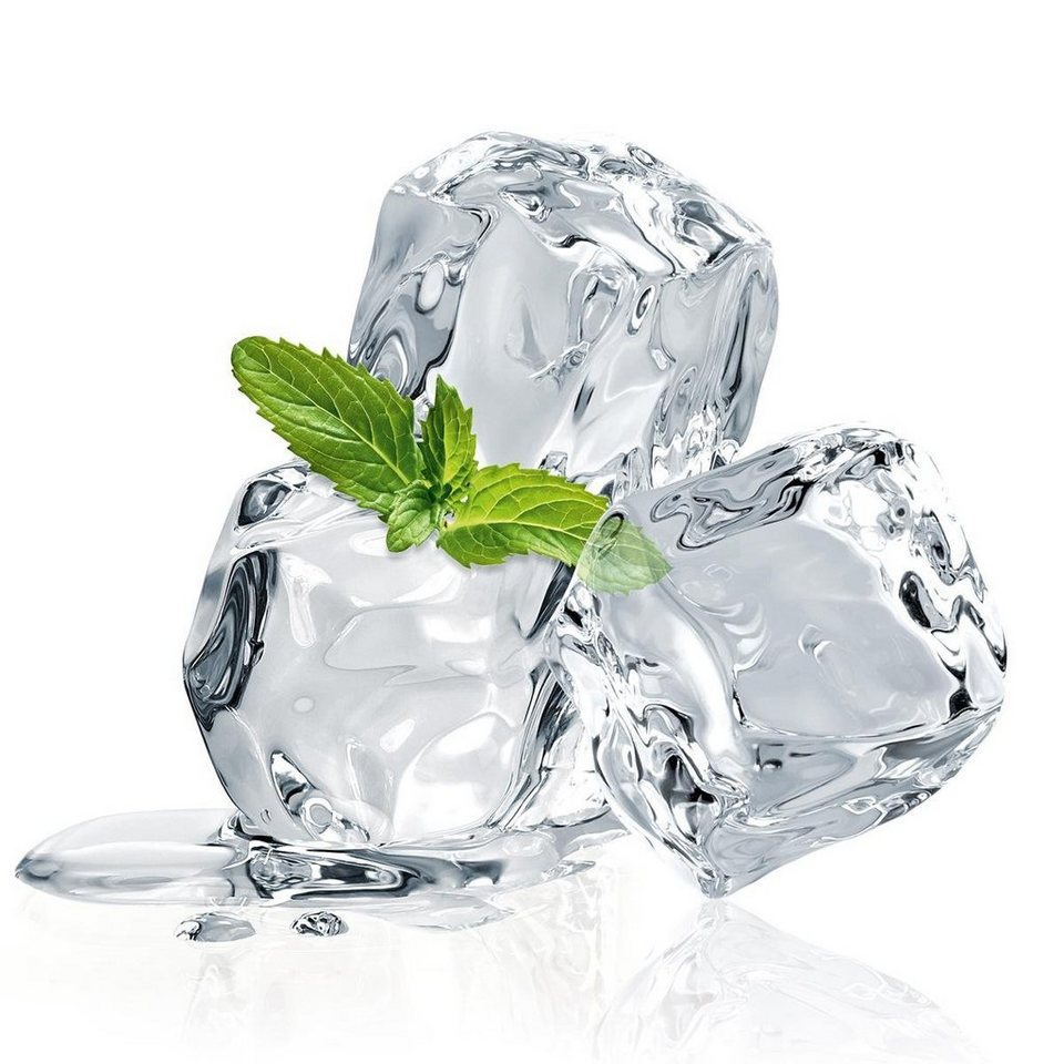 Eurographics Glasbild »Three Mint Ice Cubes«, 20/20cm in weiß/grün