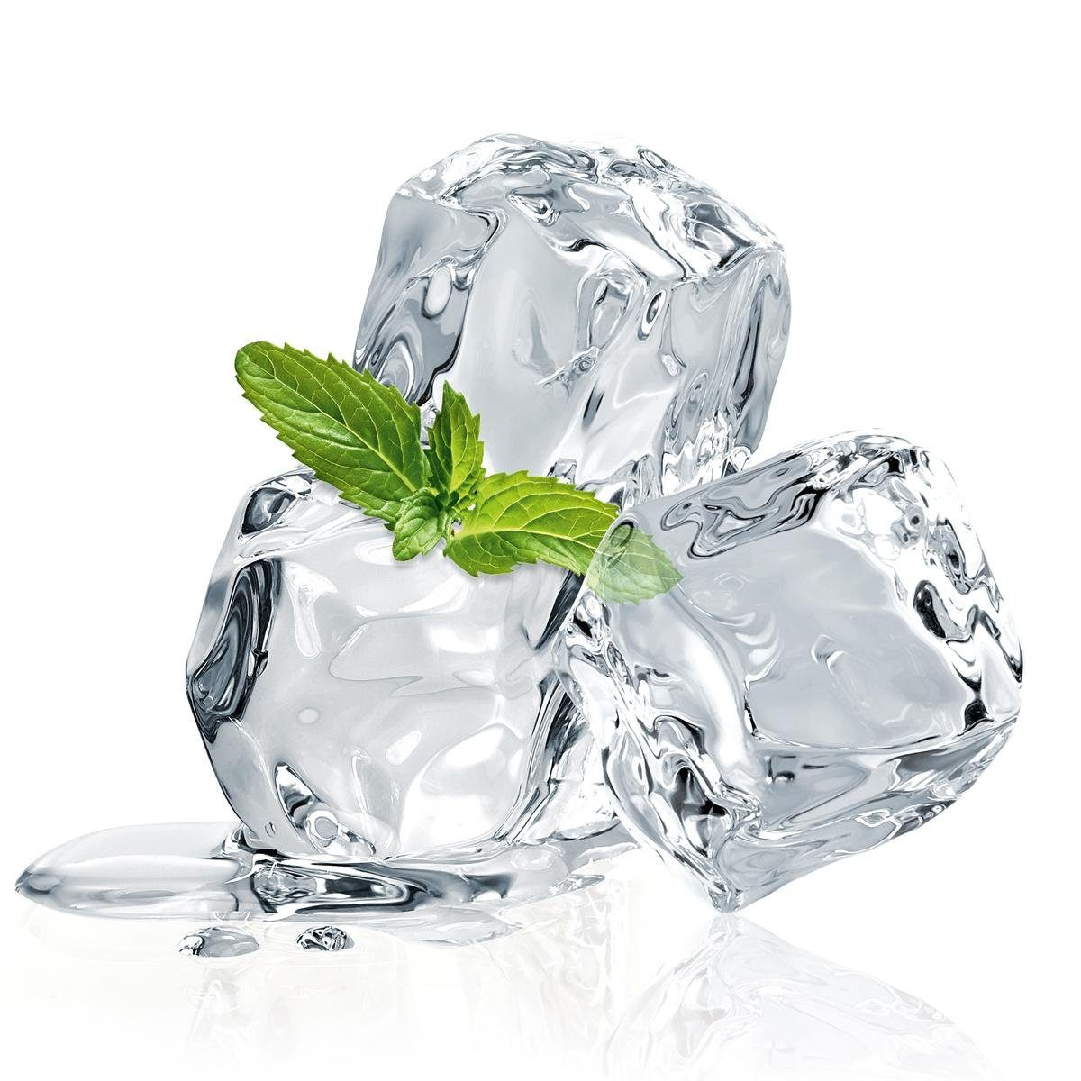 Eurographics Glasbild »Three Mint Ice Cubes«, 20/20cm