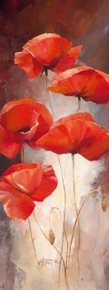 Eurographics Leinwandbild »Poppy Bouquet I«, 30/80cm in orange/beige