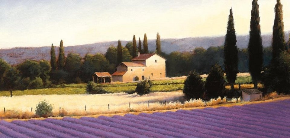 Eurographics Leinwandbild »Lavender Fields Panel III«, 115/55cm in bunt
