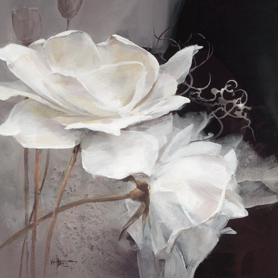Eurographics Leinwandbild »Wealth of Flowers I«, 80/80cm in weiß/grau