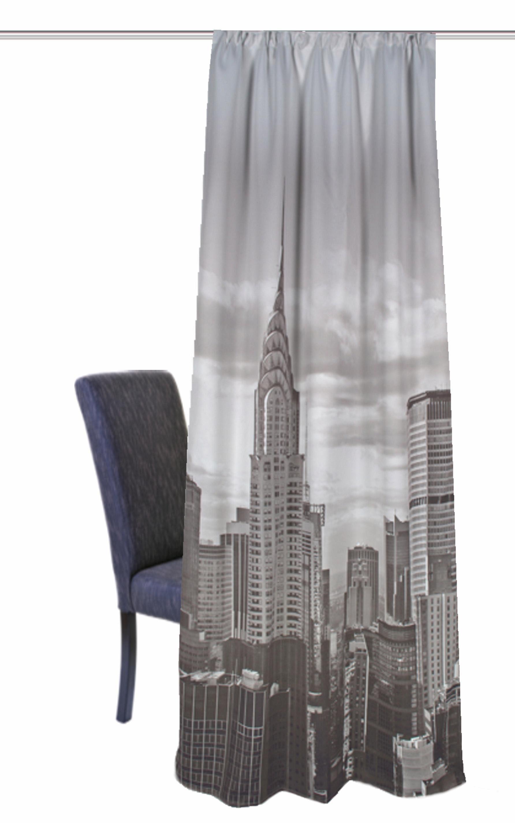 Vorhang, Home Wohnideen, »NEW YORK«, mit Smokband (1 Stück)