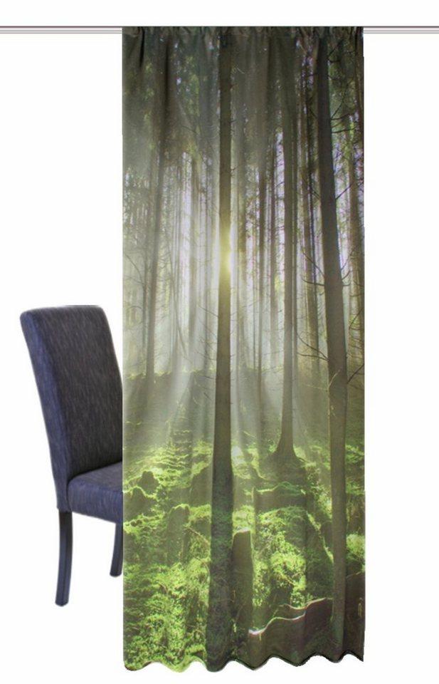 Vorhang, Home Wohnideen, »GRÜNER WALD« (1 Stück) in grün