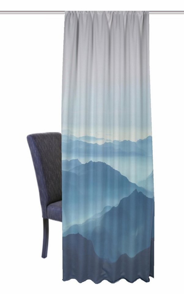 Vorhang, Home Wohnideen, »HILLS« (1 Stück) in blau