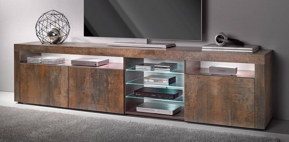 borchardt m bel lowboard breite 200 cm kaufen otto. Black Bedroom Furniture Sets. Home Design Ideas