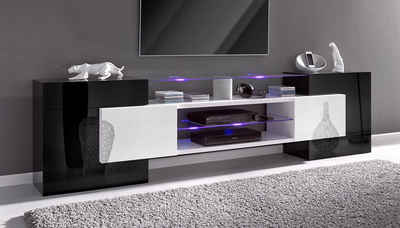 tv lowboard in schwarz online kaufen otto. Black Bedroom Furniture Sets. Home Design Ideas
