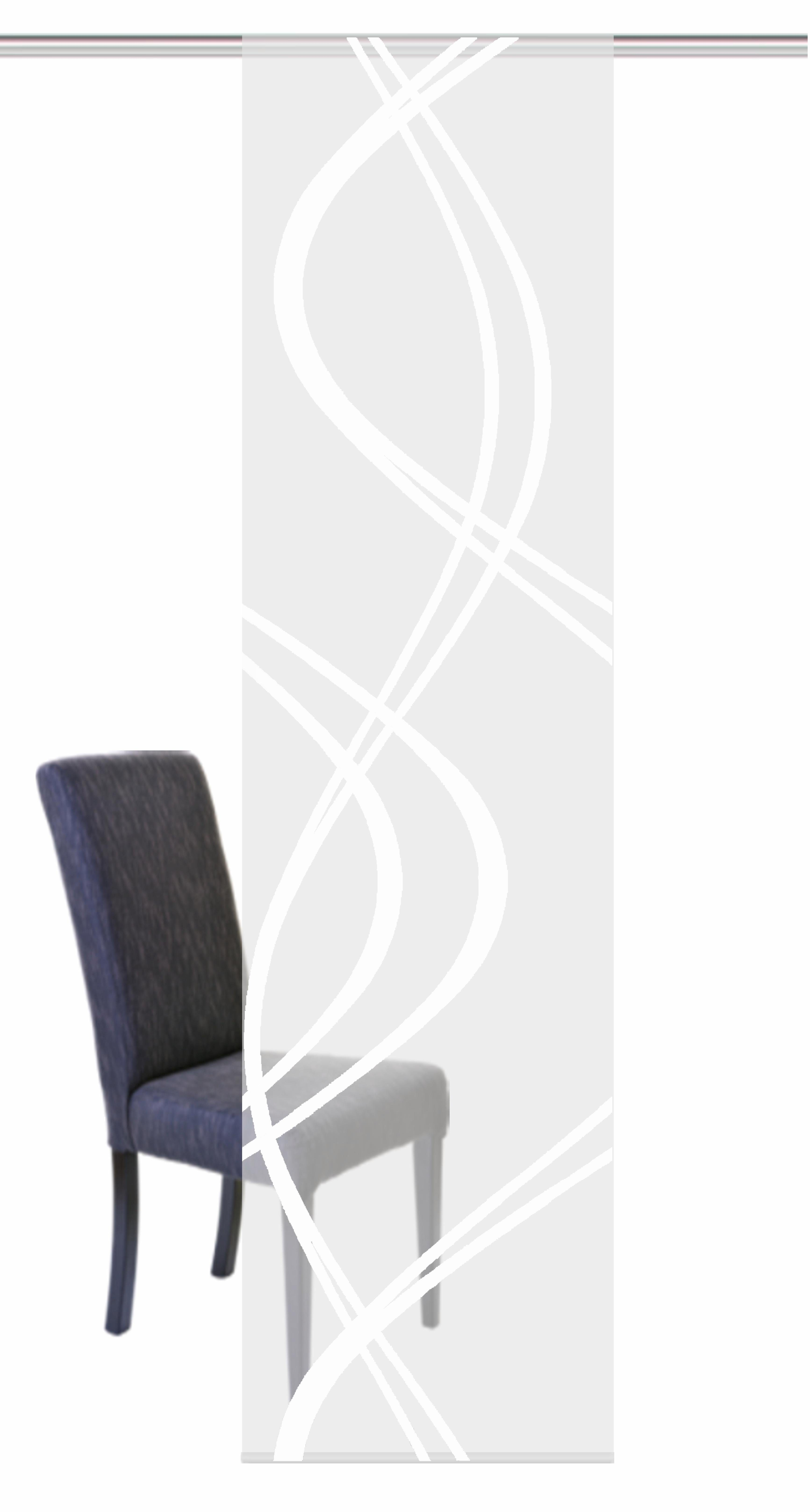 Schiebevorhang, Home Wohnideen, »TIBERIO«, mit Klettband, transparenter Voile (1 Stück mit Zubehör)