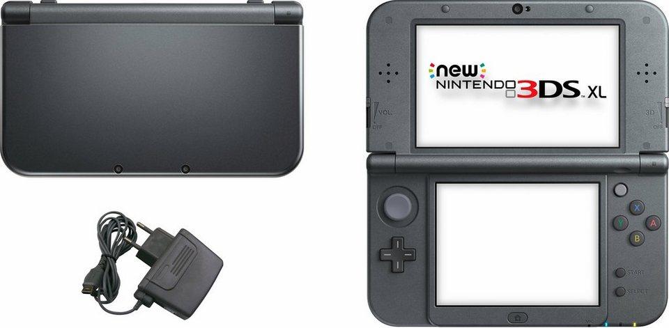 New Nintendo 3DS XL Konsolen-Set mit 3 Jahren Garantie* in metallic-schwarz
