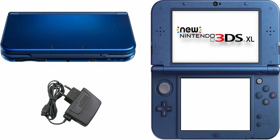 New Nintendo 3DS XL Konsolen-Set mit 3 Jahren Garantie* in metallic-blau
