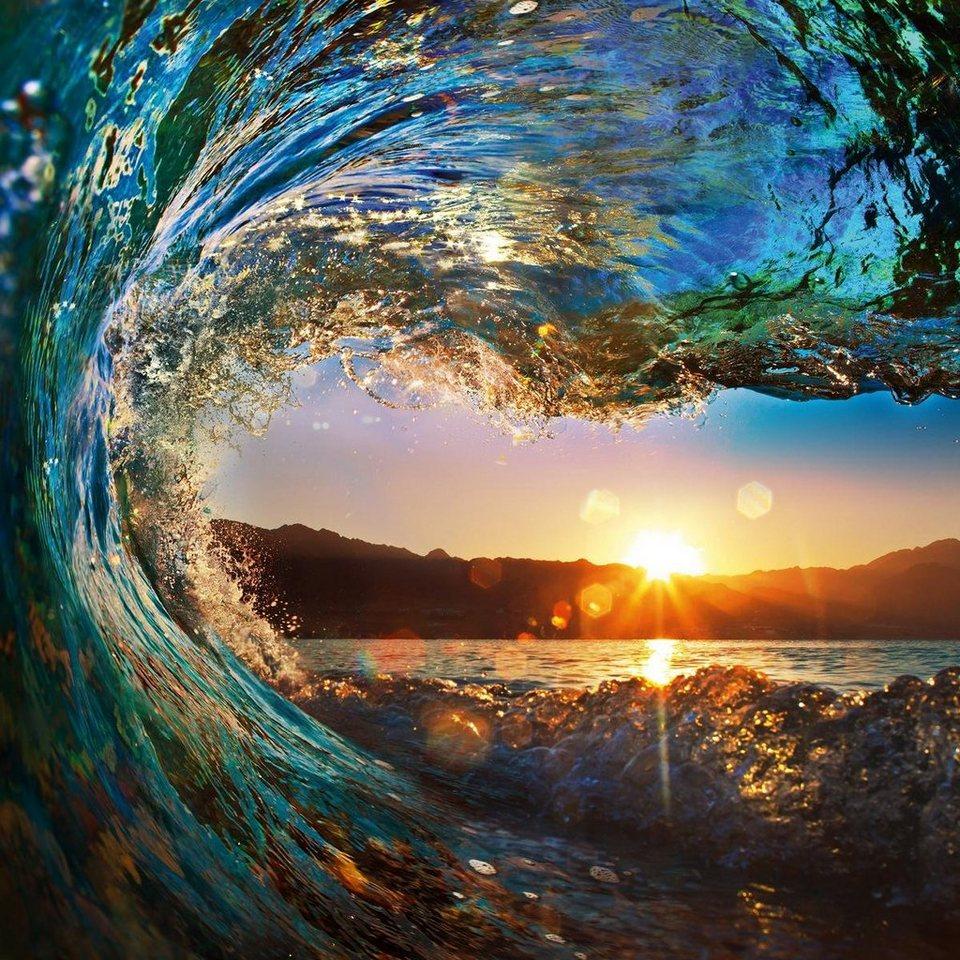 Eurographics Glasbild »Tropical Ocean Wave«, 80/80cm in bunt