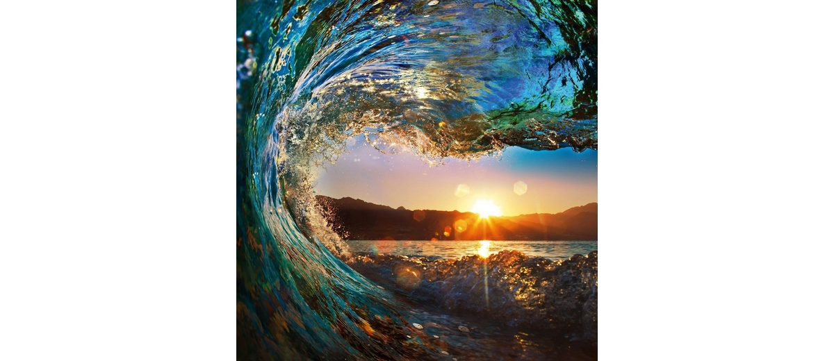 Eurographics Glasbild »Tropical Ocean Wave«, 80/80cm