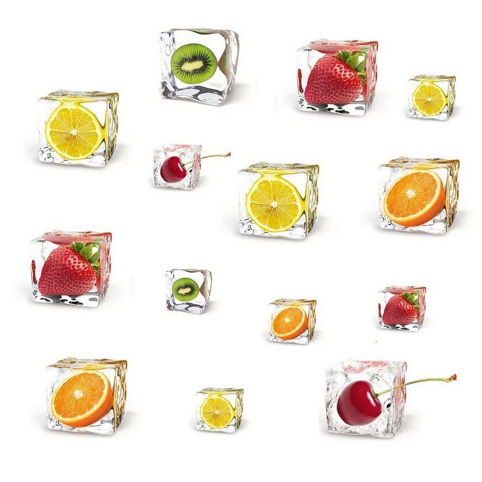 Eurographics Windowsticker »Delicate Fruits«, 70/30cm in bunt