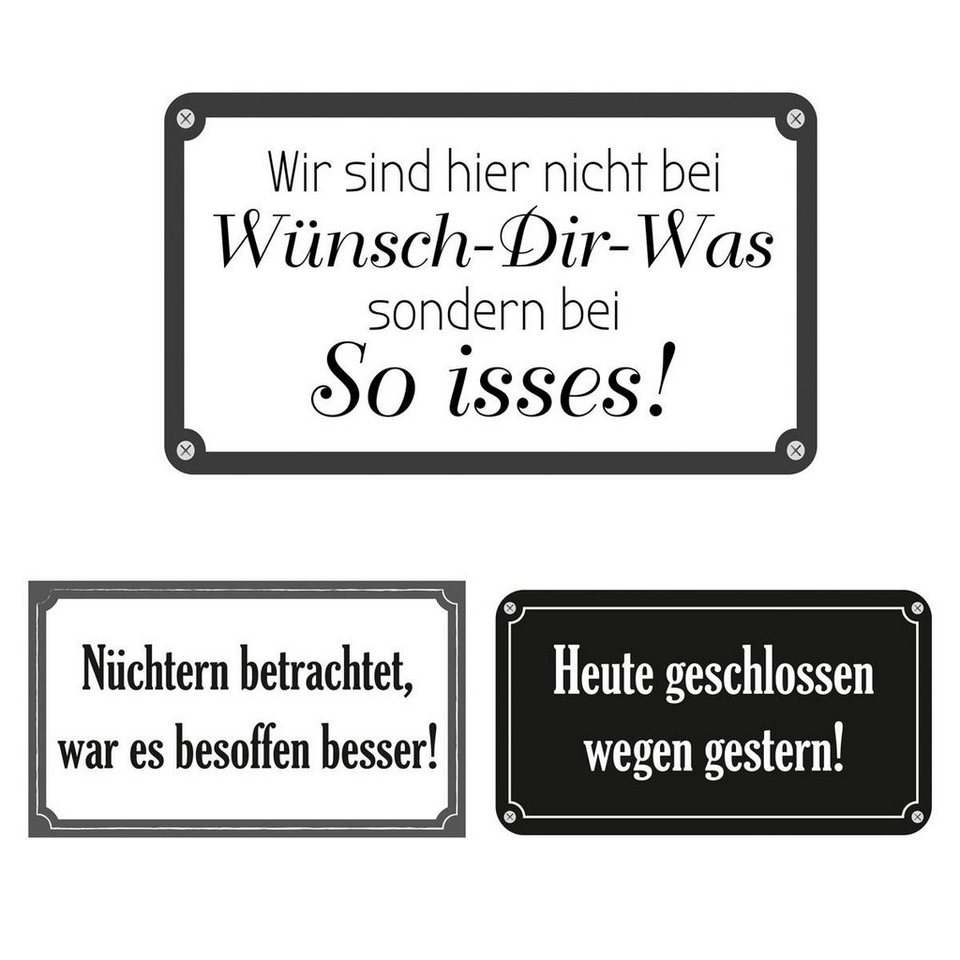 Eurographics Wandtattoos »Funny Quotations«, 6er Set in weiß/schwarz