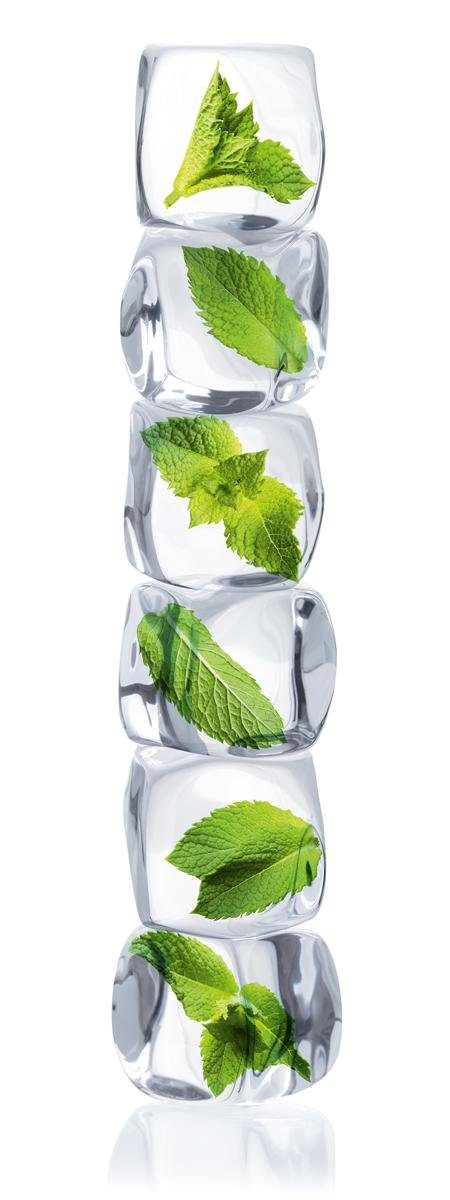 Eurographics Glasbild »Stack Of Mint Ice Cubes«, 30/80cm