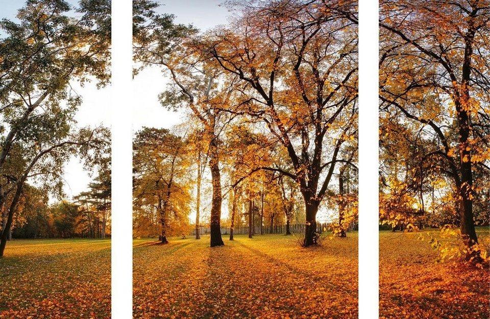 Eurographics Wandtattoos »Beautiful Autumn«, 70/50cm in orange/gelb