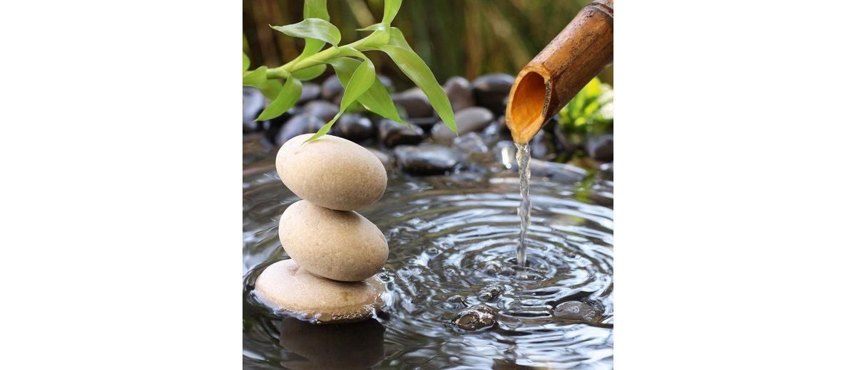 Eurographics Glasbild »The Impact Of Water & Stones«, 30/30cm