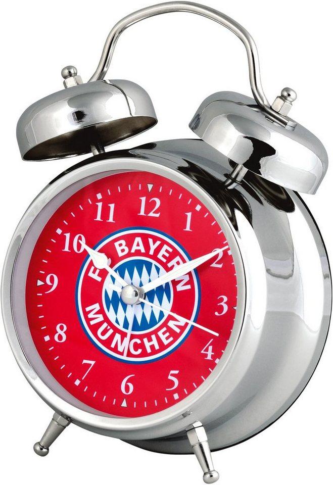 FC Bayern München Wecker, »19020« in silberfarben